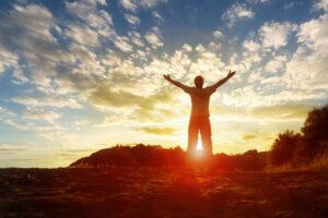 Man Expressing Gratitude