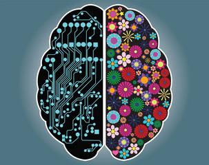 brain spheres flowers